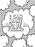 Art Therapy Counseling Lesson Plan: Friendship: I Can Make and Be a Friend