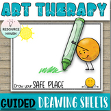 30 GUIDED Drawing Worksheets - Art Therapy for Positive Thinking