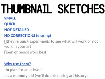 Art - Thumbnail Sketching and planning - a quick Intro