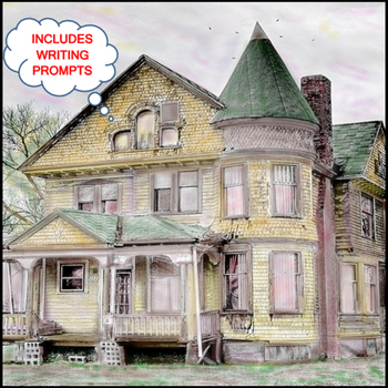 Halloween: Art Tinting Haunted House (Printable #8)