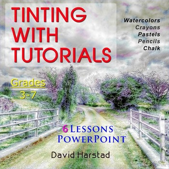 Art: Watercolor Tinting Printables #1-6 (PowerPoint Step-By-Step)