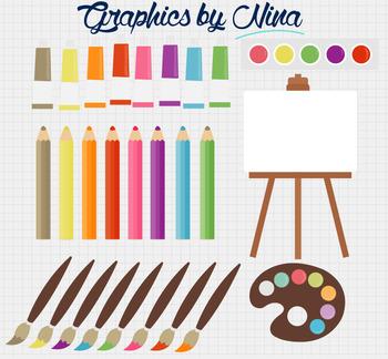 Art Tools Clipart