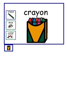 Art Topic Board: Simple Vocabulary and Interactive AAC
