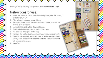 Art Trivia Card Game