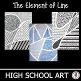 Distance Learning High School Art Lesson Plans. The Element of Line. Art Unit.