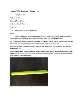 Art Unit- Form (lessons 12-14) Grade 6