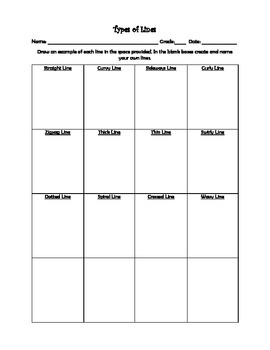 Art Unit- Line (lessons 1-4) Grade 1