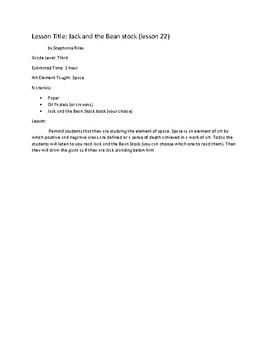 Art Unit- Space (lessons 21-23) Grade 3