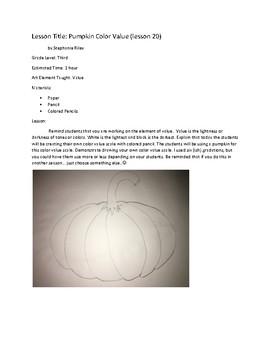Art Unit- Value (lessons 18-20) Grade 3