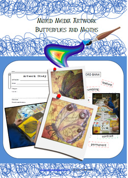 Art Unit and lesson plans - Mixed Media - Butterflies and Moths