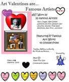 Making Art Cards -Famous Artists (14 pages) Teacher's Guide - Valentine Activity