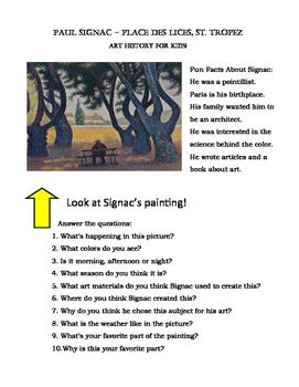 Art Viewing for Kids: Signac Fun Facts