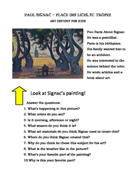 Art Viewing for Kids: Signac Fun Facts
