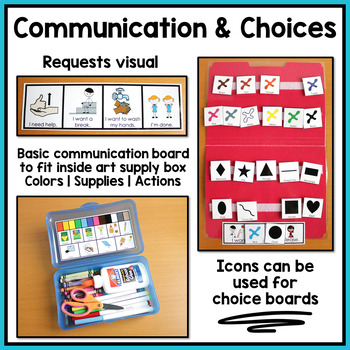 Art Visual Supports and Schedules for Special Education and Autism