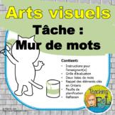 Art Vocab Word Wall Assignment - Projet des cartes de voca