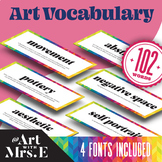 Art Vocabulary || 102 words x 4 different fonts!