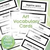Art Vocabulary Cards