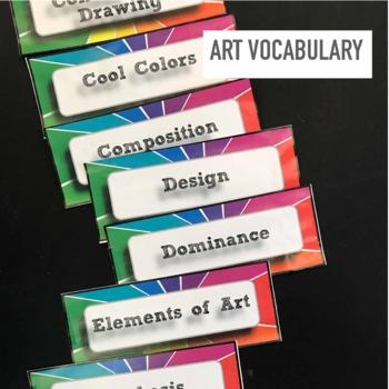 Art Vocabulary Classroom Word Wall