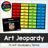 Art Vocabulary Scavenger Hunt and Jeopardy Game (Volume One)
