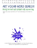 Art Vocabulary Word Search