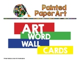 Art Vocabulary Word Wall