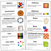 Art Word Wall Vocabulary Poster For Elementary Art Educati