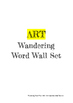 Art Wandering Word Wall Set