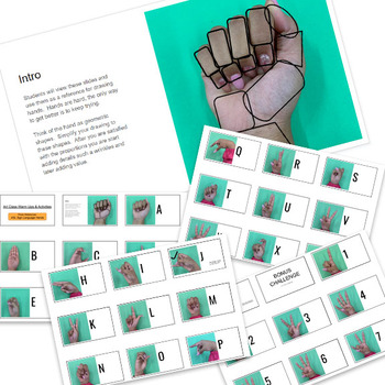 Art Warm Up ASL Sign Language Hand Reference Images Photos
