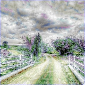 "Art: Watercolor Tinting ""Country Road"" (Printable #1 w/ PowerPoint Tutorial)"