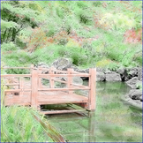 """Spring Art: Watercolor Tinting """"Japanese Garden"""" (Printable #5 w/ PowerPoint)"""