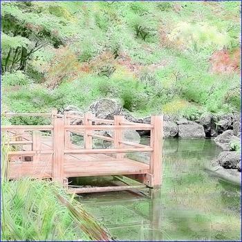 "Art: Watercolor Tinting ""Japanese Garden"" (Printable #5 w/"