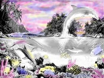 "Art: Watercolor Tinting ""Sea Life"" (Printable #4 w/ PowerPoint Tutorial)"