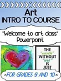 Art - Intro - First Day Back - Welcome to class POWERPOINT (Grades 9 and 10)