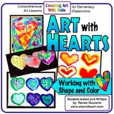 Art Lesson Bundle Valentine's Day Art With Hearts