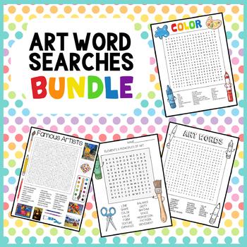 Art Word Searches Bundle