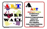 Art Word Wall - 14 horizontal legal pages