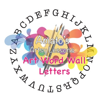 Art Word Wall Letters