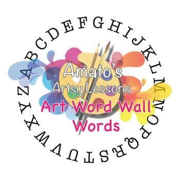 Art Word Wall  Words