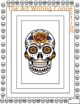Art Writing Halloween Connection - 8 pages - Skulls - Pumpkins - Coloring Design