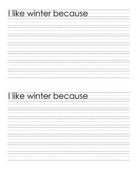 Language, Art- I Like Winter Because...