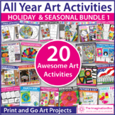 Year Long Art Bundle | Coloring Pages, Writing and Decor
