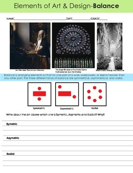 Art analysis: Balance, symmetrical, asymmetrical