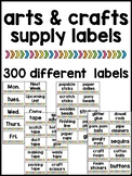 Art and Craft Supply Labels