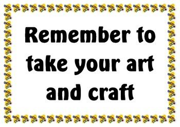 """Art and Craft Table Sign """"Look what we have made today"""" for Childcare or OSHC"""