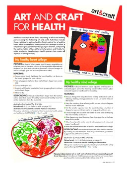 Art and Craft for Health. Australian Curriculum.