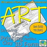 Art  Lesson Plans 1st Grade US/Year 2 UK - 40 lesson plans, skills, artist focus