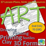 Art Lesson Plans for 2nd Grade (Y3 UK) Lesson plans, artists, resources, hints
