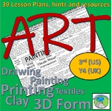 Art Lesson Plans for 3rd Grade (Y4 UK) - Artist links, skills and resources