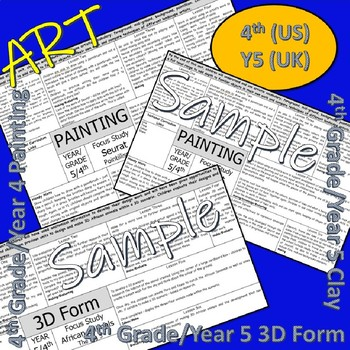 Art and Design Scheme for 4th Grade (US), Y5 (UK)