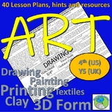 Art Lesson Plans for 4th Grade (Y5 UK) Skills, artists, activities and resources